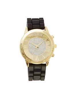 Glitter Face Watch - BLACK - 1140071435268