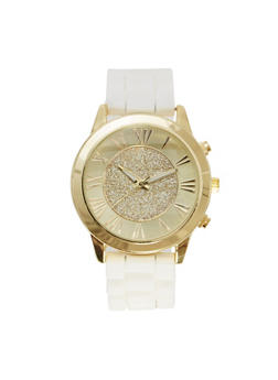 Glitter Face Watch - WHITE - 1140071435268