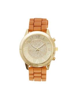 Glitter Face Watch - TAN - 1140071435268