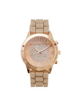 Glitter Face Watch - NUDE - 1140071435268
