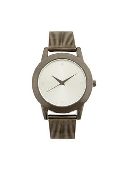 Metal Mesh Strap Watch - JET - 1140071438041