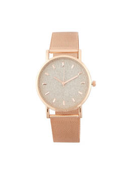 Metallic Mesh Glitter Watch - ROSE - 1140071438524