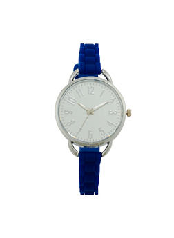 Mirrored Metallic Silicone Strap Watch - 1140071439121