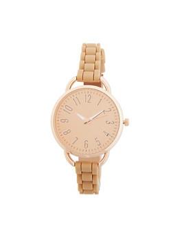 Mirrored Metallic Silicone Strap Watch - 1140071439121
