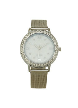 Metallic Mesh Strap Watch - 1140072692771