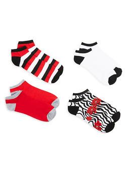 Set of 4 Ankle Socks - MULTI COLOR - 1143041451319