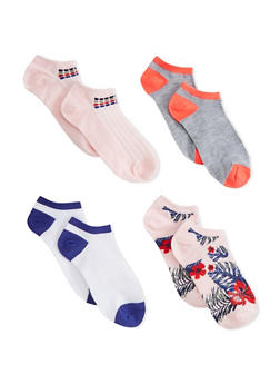 4 Pack of Ankle Socks - PINK - 1143041451917