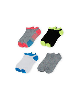 Ankle Socks 4 Pack - GRAY - 1143041453616