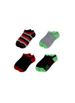 Ankle Socks 4 Pack - LIME - 1143041453616