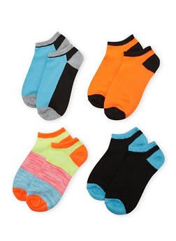 4-Pack of Ankle Socks - BABY BLUE - 1143041453716