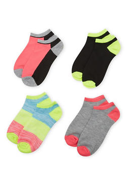 4-Pack of Ankle Socks - FUCHSIA - 1143041453716