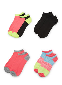 4-Pack of Ankle Socks - NEON LIME - 1143041453716