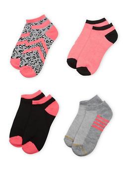4-Pack of Ankle Socks - FUCHSIA - 1143041454016
