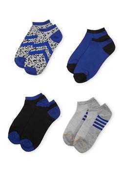 4-Pack of Ankle Socks - BLUE - 1143041454016