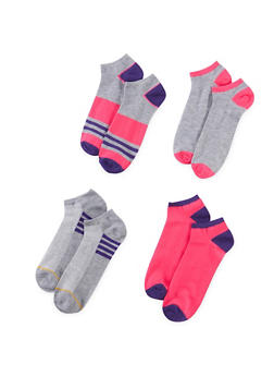 4-Pack of Ankle Socks - PURPLE - 1143041454117