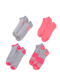 4-Pack of Ankle Socks - FUCHSIA - 1143041454117