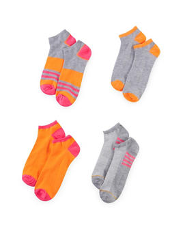 4-Pack of Ankle Socks - ORANGE - 1143041454117