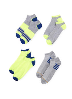 4-Pack of Ankle Socks - NEON LIME - 1143041454117