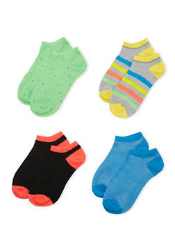 4-Pack of Ankle Socks - NEON LIME - 1143041454316