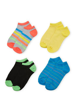 4-Pack of Ankle Socks - BLUE - 1143041454316