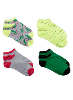 Cactus Print Assorted Ankle Socks - 1143041454917