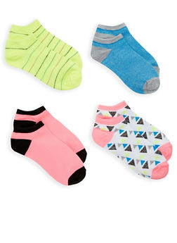 4 Pack Assorted Ankle Socks - 1143041455117