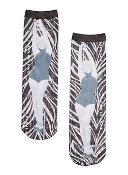Graphic Marylin Monroe Socks - 1143068065513