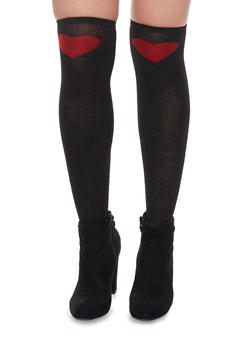 Knee High Heart Socks - 1148068062214