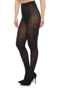 Footed Black Tights - 1150041458881