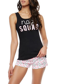 Nap Squad Graphic Pajama Set - 1152035160562