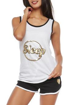 Sequin Graphic Pajama Set - 1152069006891