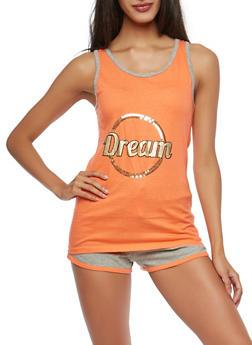 Sequin Graphic Pajama Set - ORANGE - 1152069006891