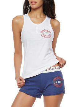 Graphic Pajama Set - WHITE - 1152069006944