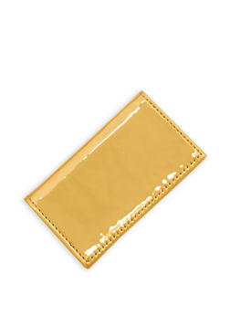 Metallic Patent Leather Card Wallet - 1163018430601
