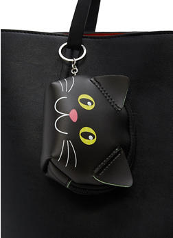 Faux Leather Critter Coin Purse Keychain - 1163018433235