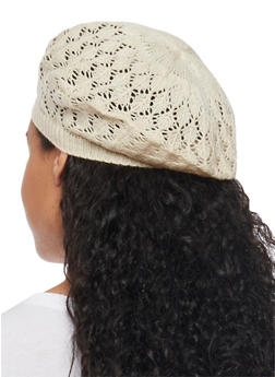 Crocheted Beret Hat - OATMEAL - 1163067440007