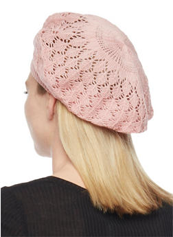Crocheted Beret Hat - MAUVE - 1163067440007