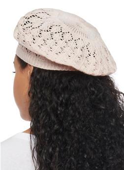 Crocheted Beret Hat - BLUSH - 1163067440007