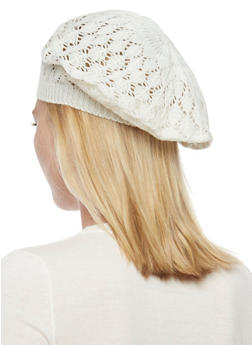 Crocheted Beret Hat - IVORY S - 1163067440007