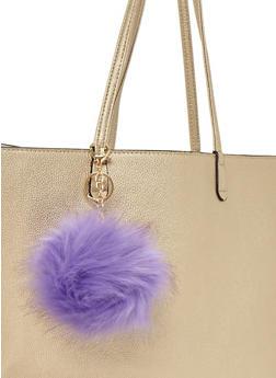 Faux Fur Pom Pom Keychain - 1163067440061