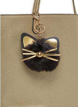 Cat Pom Pom Keychain - 1163067442008