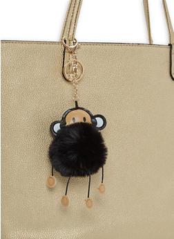 Monkey Pom Pom Keychain - 1163067444008