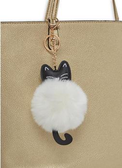 Cat Pom Pom Keychain - 1163067446008