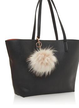 Faux Fur Pom Pom Bag Charm - 1163067446017
