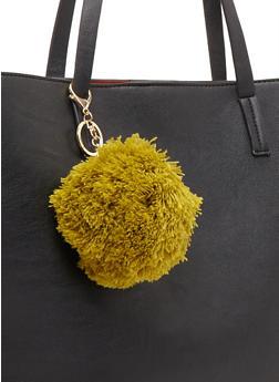 Yarn Pom Pom Bag Charm - 1163067446019