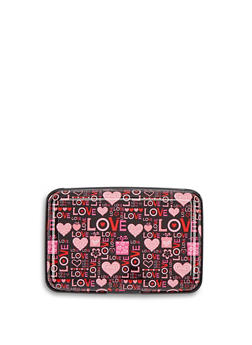 Pink Love Graphic Card Wallet - 1163067446148