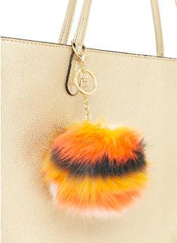 Multicolored Pom Pom Keychain - 1163067447013