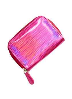 Marled Holographic Zip Wallet - 1163067447130