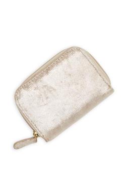 Mini Foil Velvet Zip Wallet - 1163067447134
