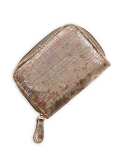 Mini Foil Velvet Zip Wallet - 1163067447135